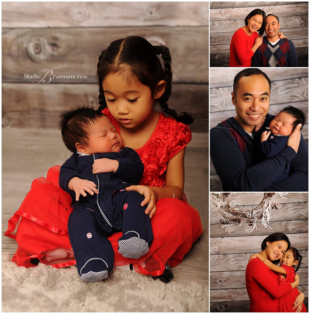 Christmas Family Pictures in red and blue_Studio B Portraits_0059.jpg