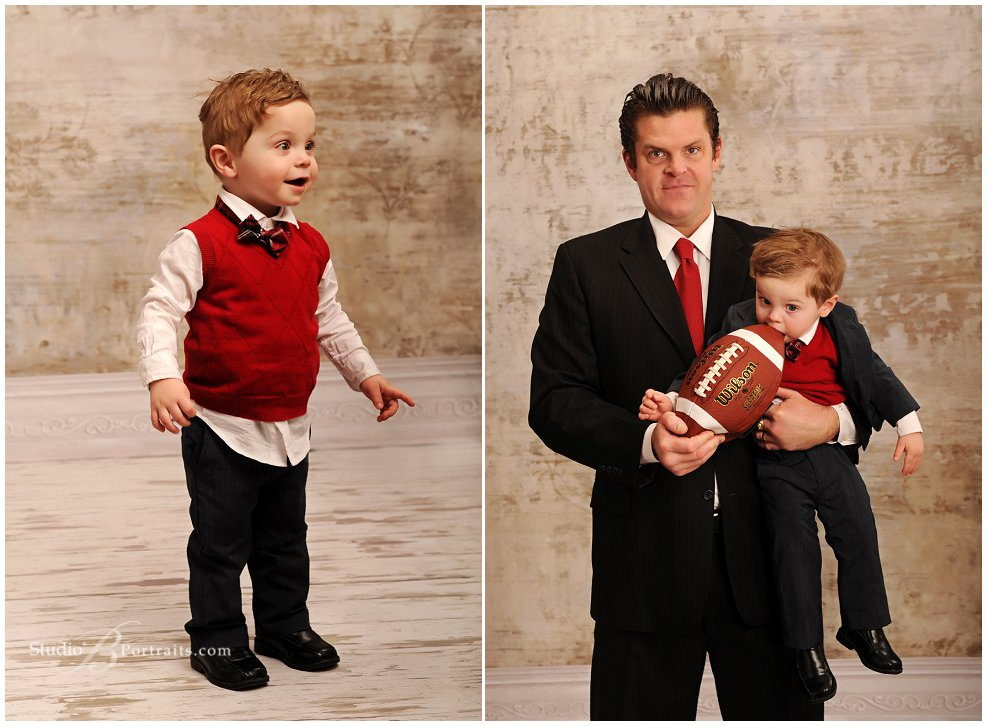 Formal childrens portraits of baby eating a football_Studio B Portraits_0063.jpg