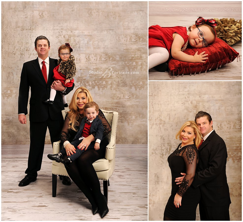 Formal family portraits with twins in red and black_Studio B Portraits_0064.jpg