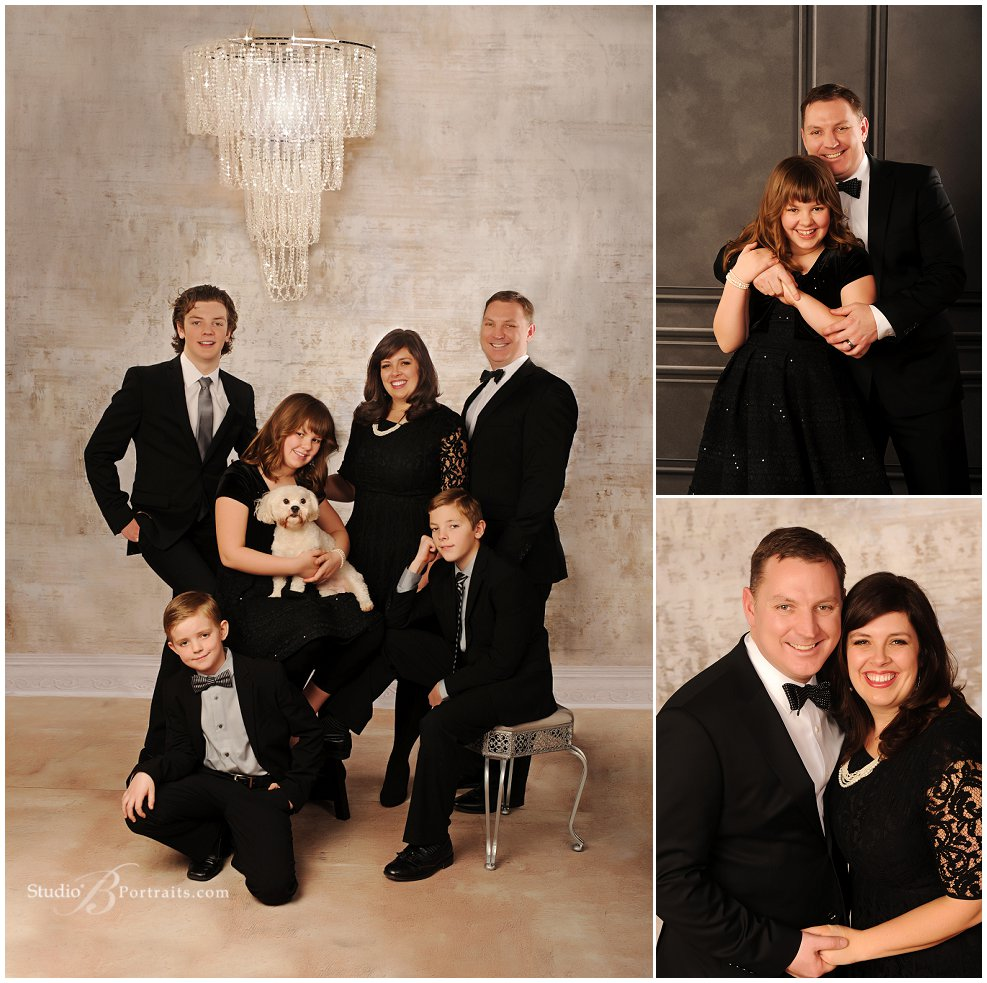 Formal family portraits in tux and black dress_Studio B Portraits_0080.jpg
