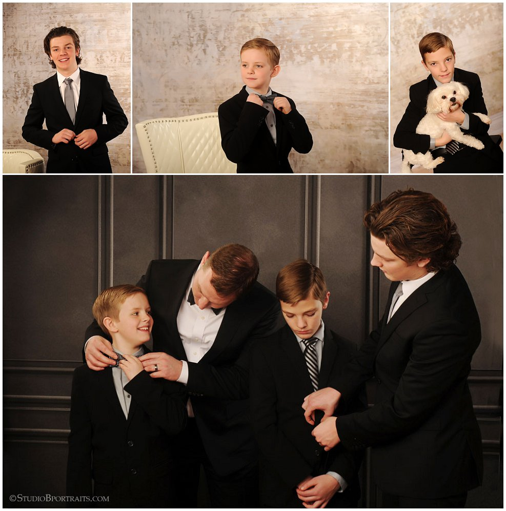 Formal family portraits in tux and black dress_Studio B Portraits_0081.jpg