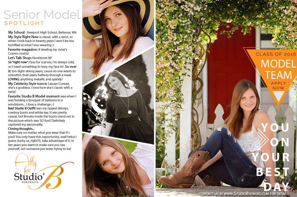 2016 Studio B Seniors Model Team_Ally