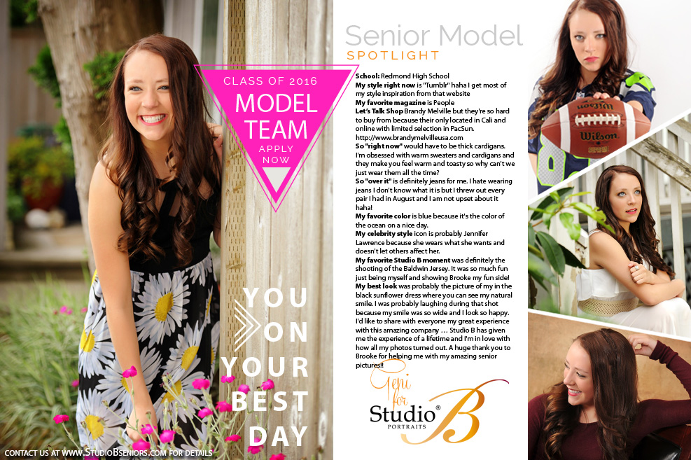 2016 Studio B Seniors Model Team_Geni