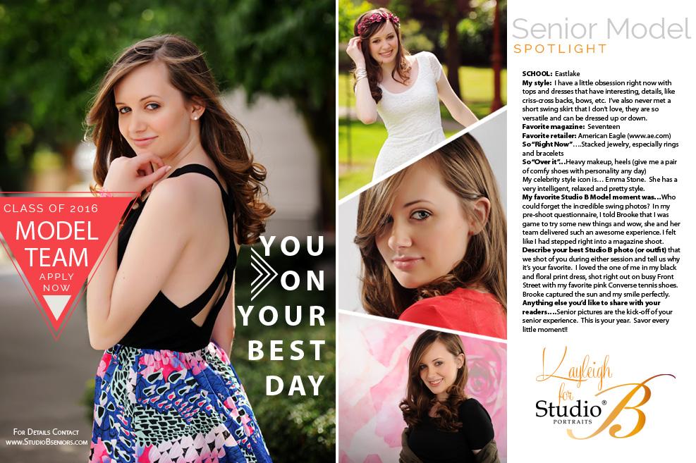 2016 Studio B Seniors Model Team
