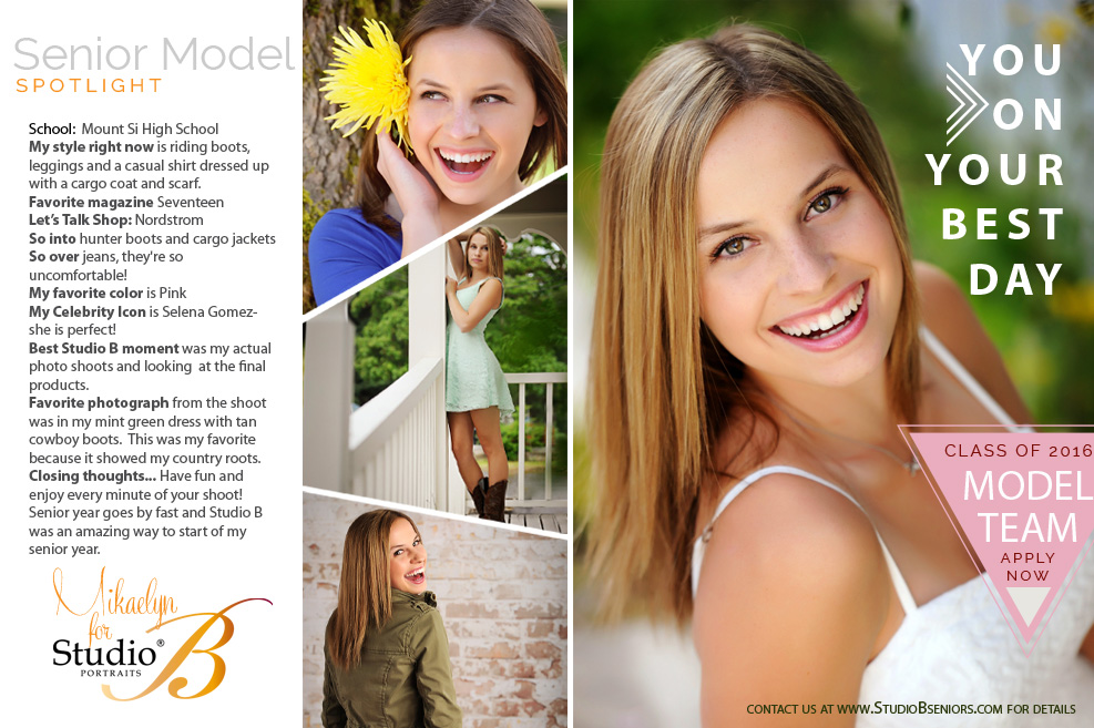 2016 Studio B Seniors Model Team_Davis