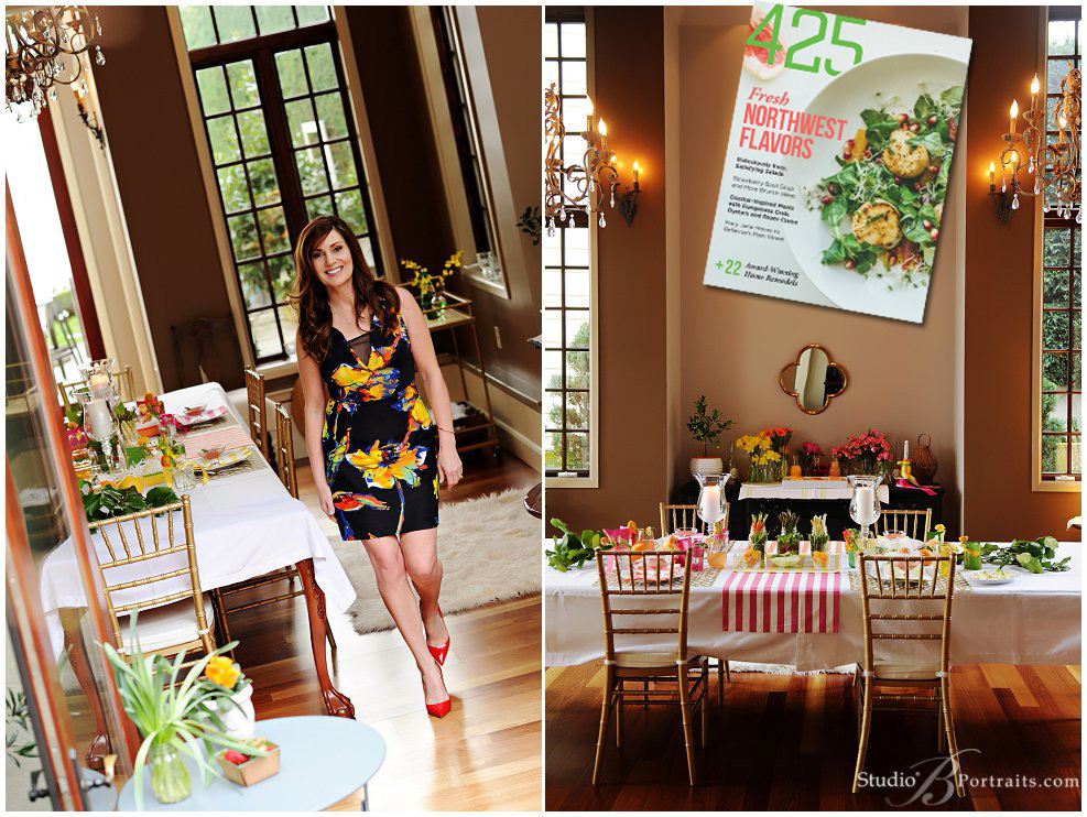 Brunch with Spring flower theme_Monica Hart2 photographed by Studio B Portraits for 425 Magazine