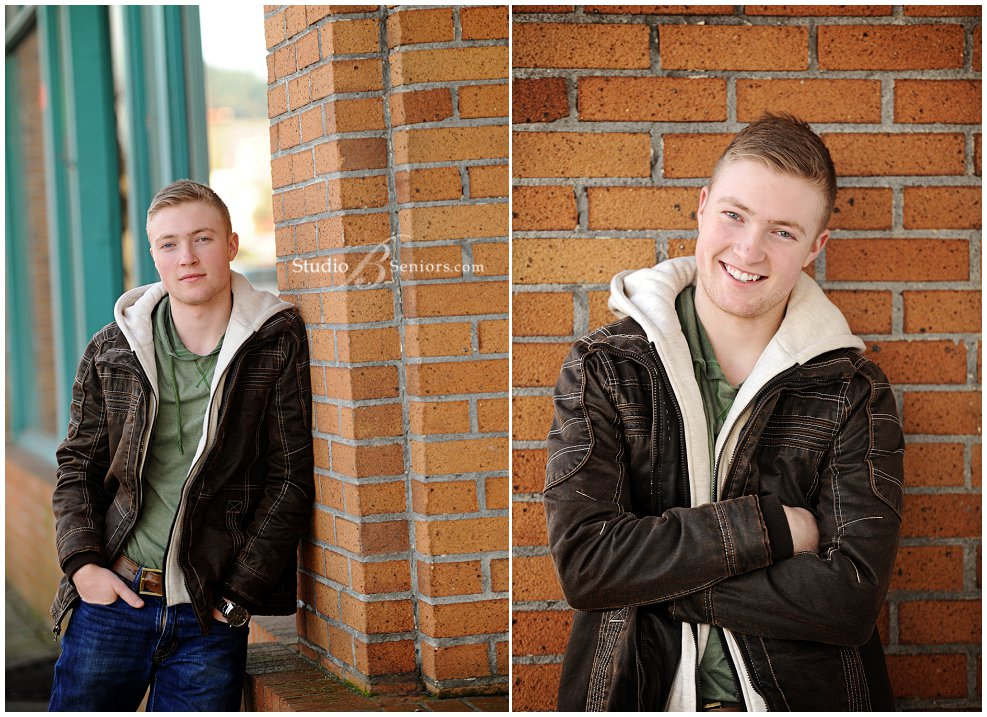 Cool guy senior picture of high schol boy in brown leather coath with guitar_0221.jpg