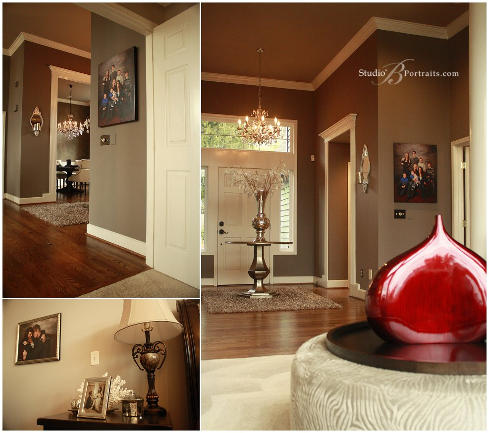 Decorating with canvas Family Portraits in elegant Sammamish WA home_Studio B in Issaquah_0226.jpg