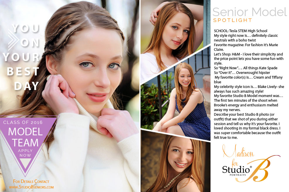 2016 Studio B Seniors Model Team_MadisonM