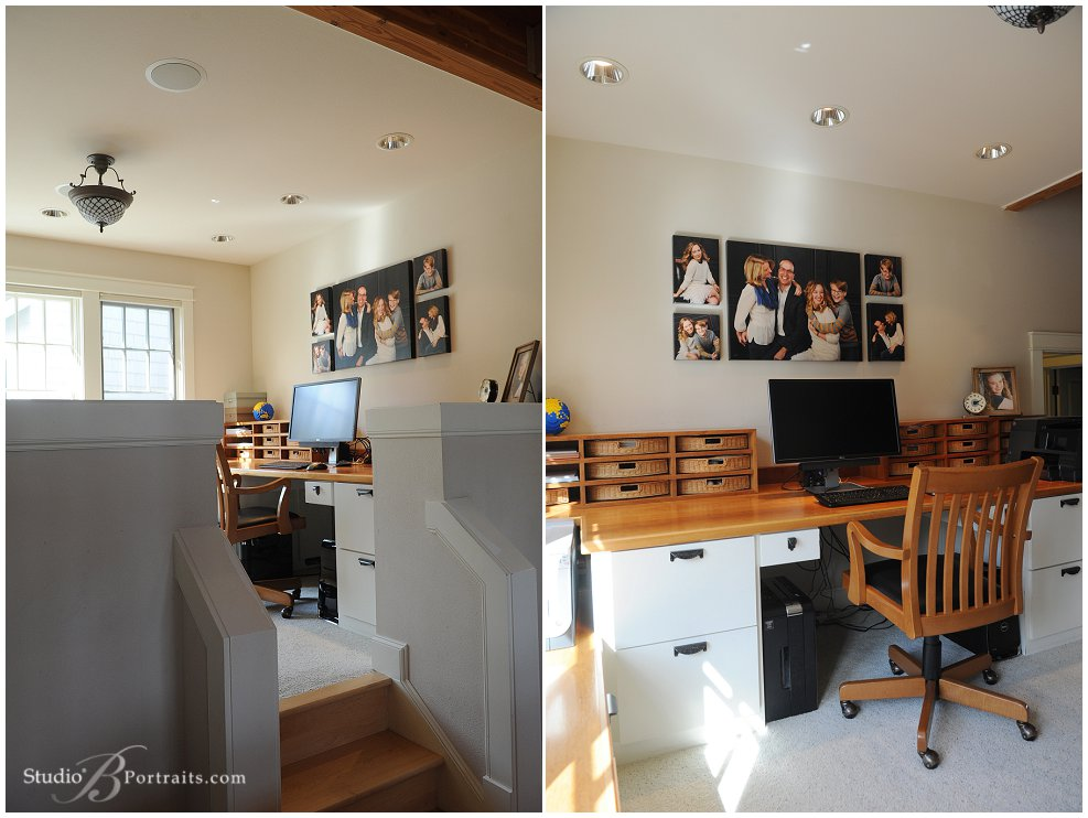 Decorating with family wall portraits in your home office using canvas wraps by Studio B Portraits_0309.jpg