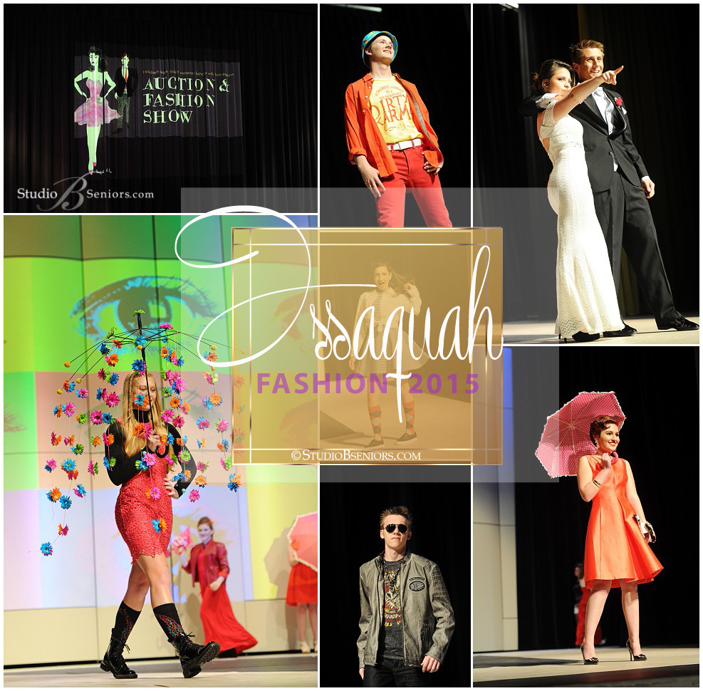 Fashion Show pictures of Issaquah High School students fundraiser event photographed by Studio B