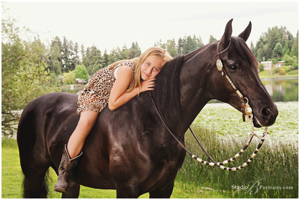 Young girl with Arabian horse by lake_Studio B Portraits_0082.jpg