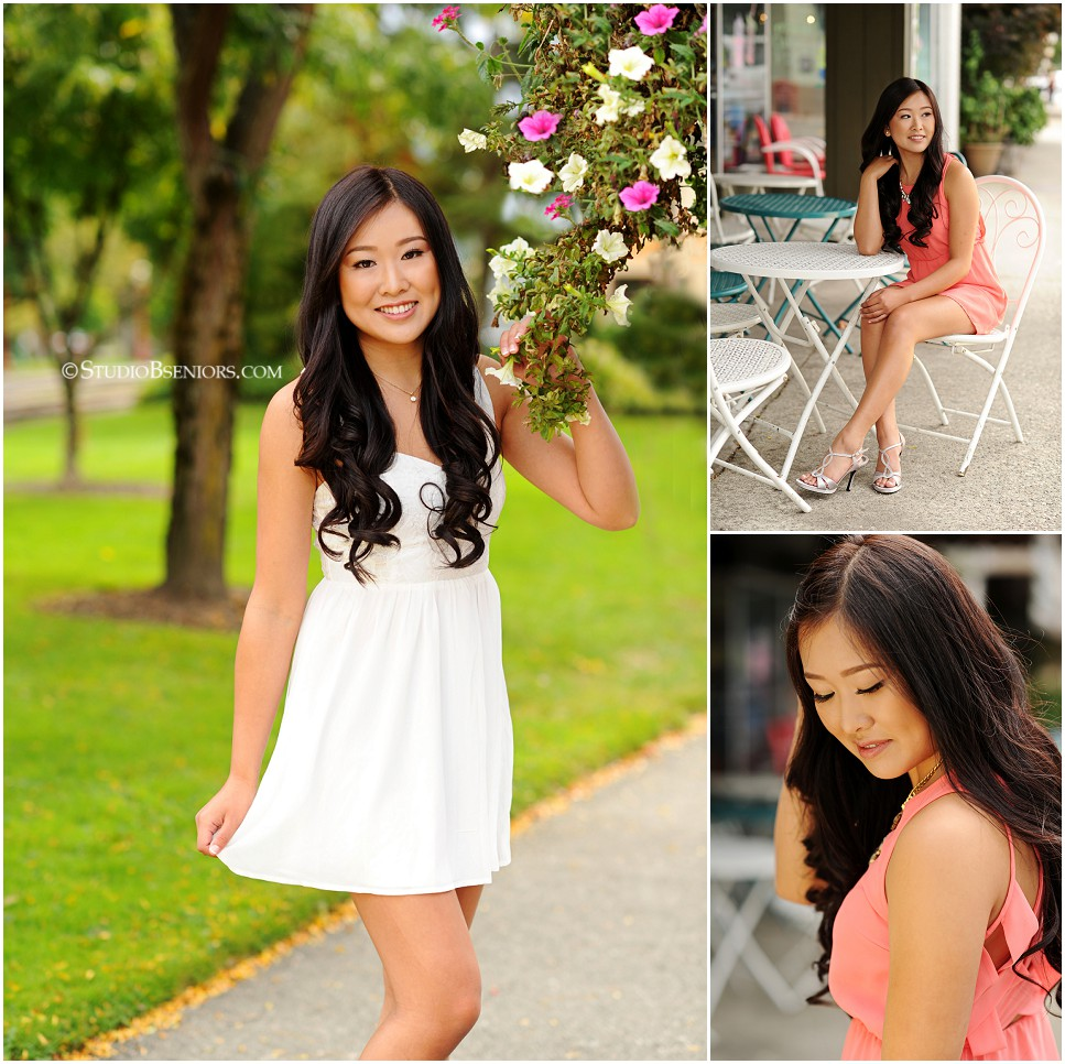 Pretty Asian High School Senior in Sundress_Studio B Portraits