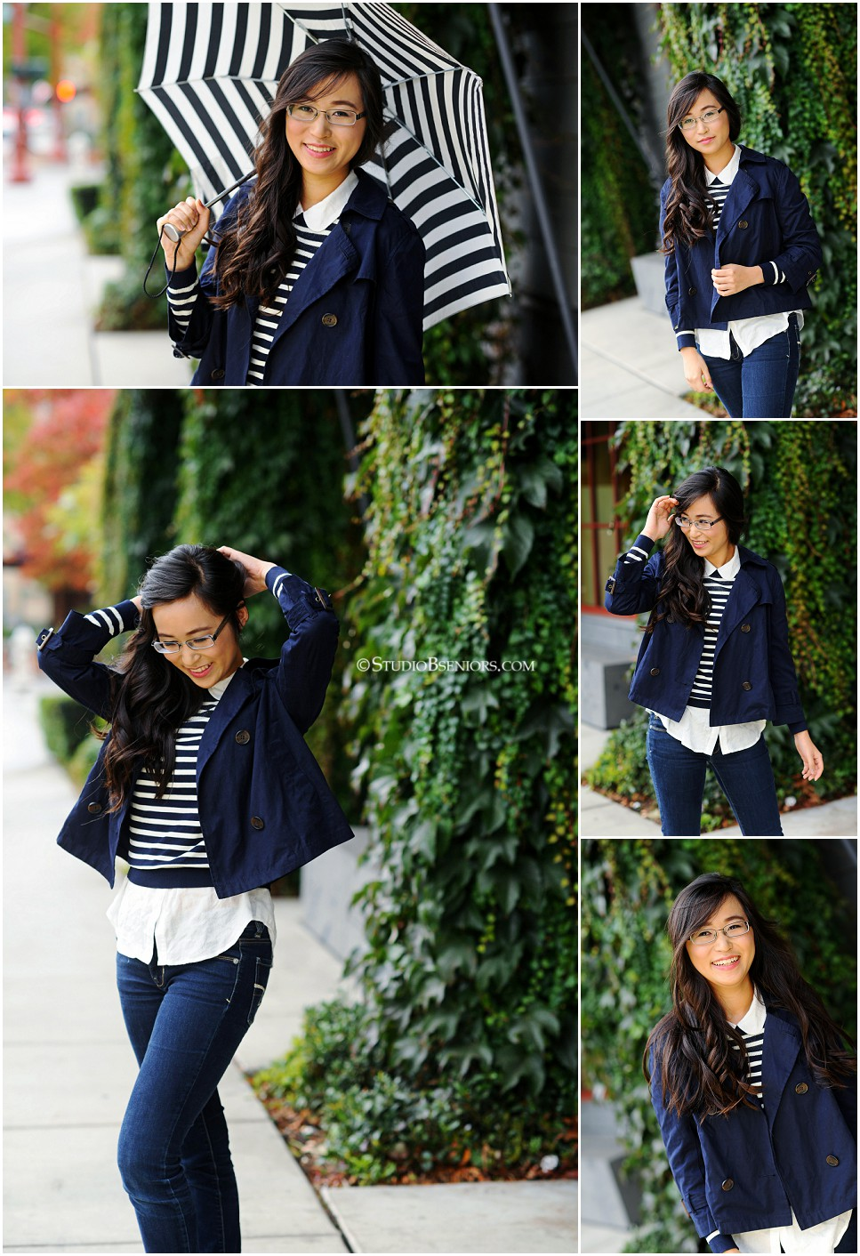 High school senior pictures of Stem High School girl in navy stripe_0197.jpg