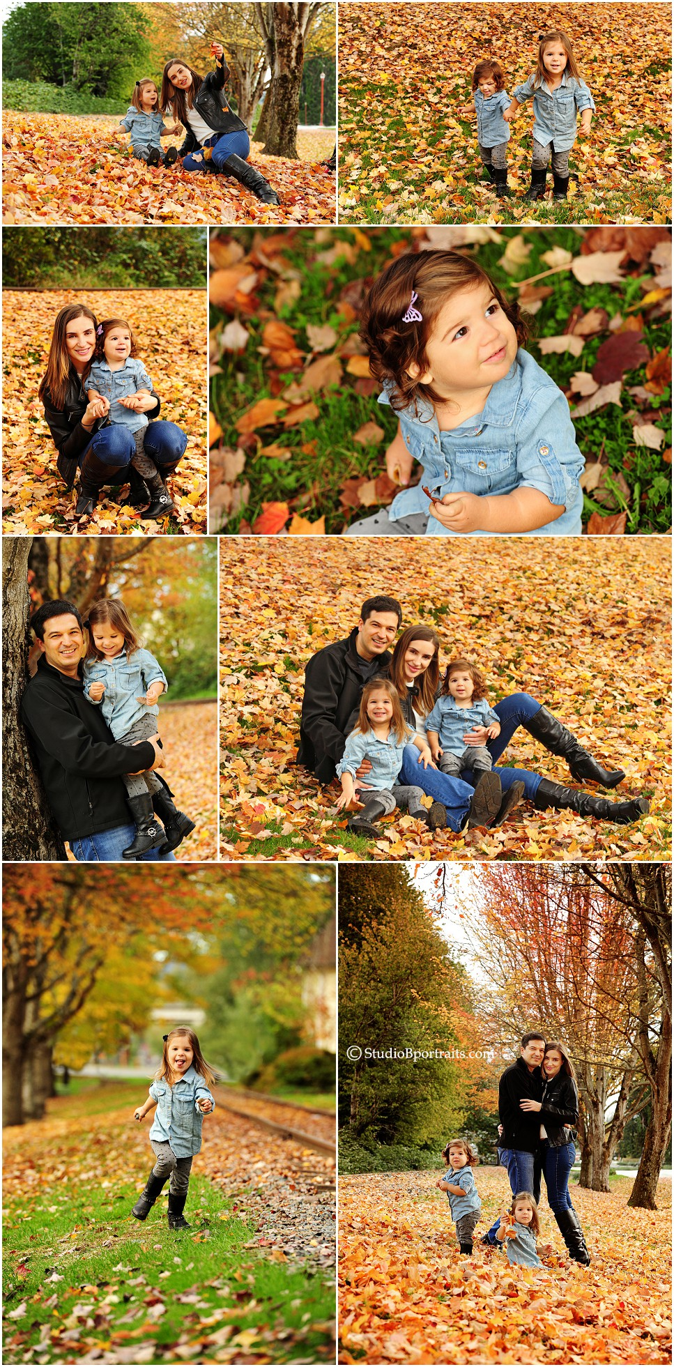 Beautiful family pictures in the fall leaves in downtown Issaquah by Studio B_0212.jpg