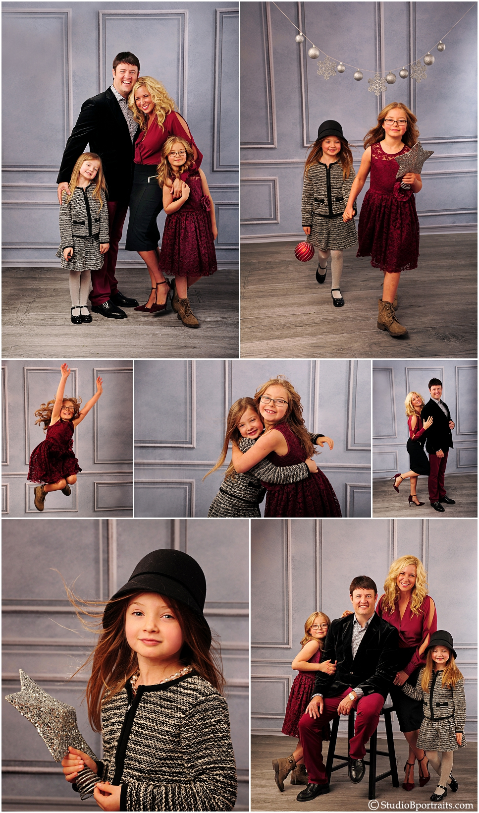 Cute family portraits in burgundy and black in studio_0217.jpg