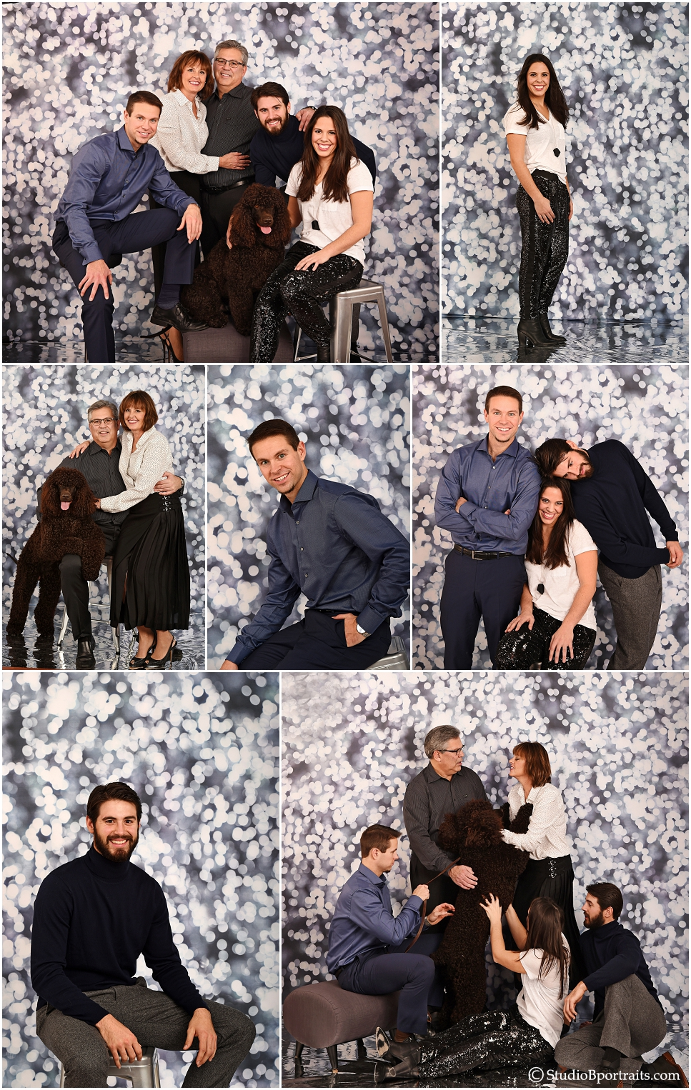 Fun family pictures on cool silver background at Studio B Portraits_0233.jpg