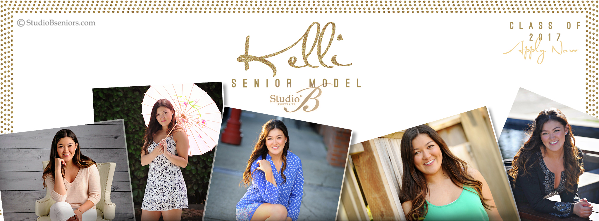Studio B Portraits High School  Model Facebook Cover_Kelli 2