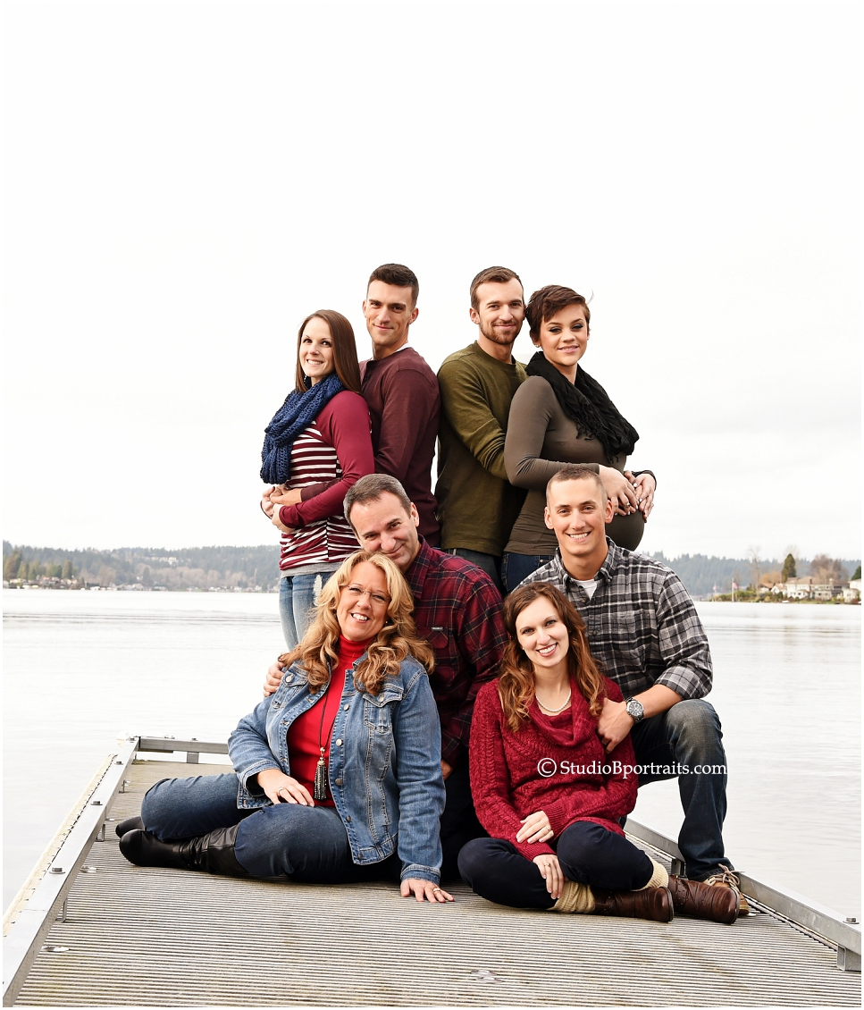 Family portraits at Lake Sammamish with 3 preganant women and husbands_0247.jpg