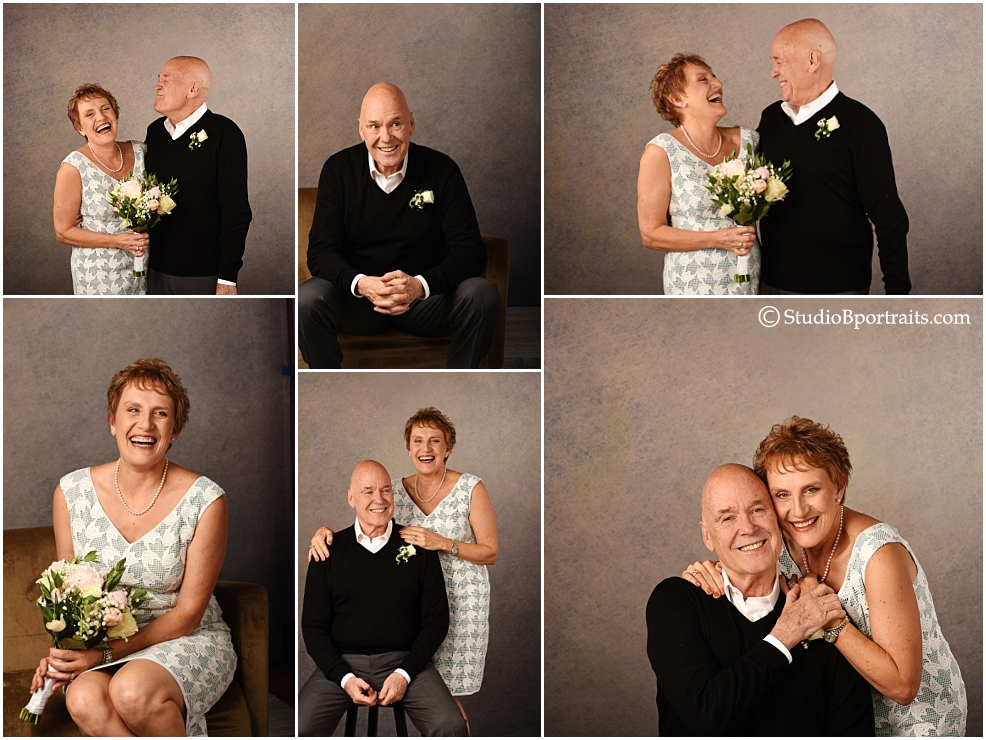 Sweetest couple ever in love after 20 years together laughing and playing in the studio