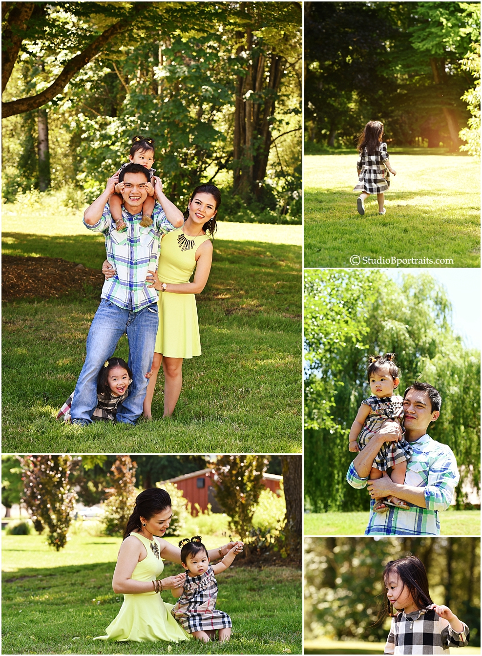 Style By Season featuring family in Burberry for Summer photo shoot in Issaquah