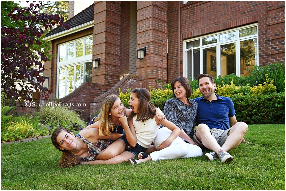 Plateau Living Magazine cover shoot photographed by Studio B Portraits owner Brooke Clark at Riskin Family Sammamish home