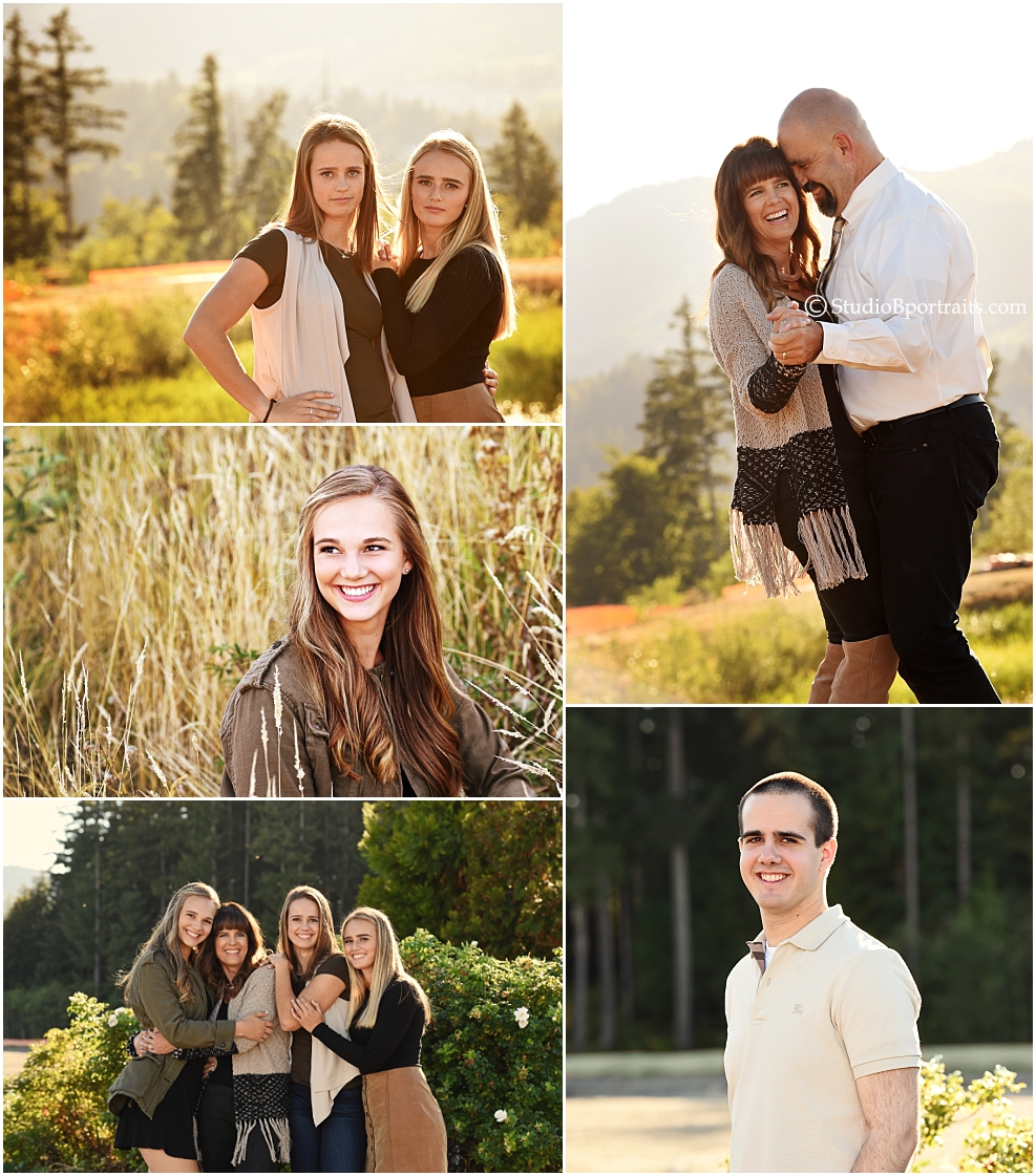 Sweet Fall family portraits photographed in-the-Issaquah Highlands by Brooke Clark for Studio B Portraits