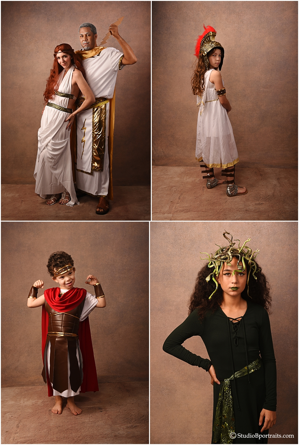 Family Halloween Costume Greek Gods Medusa Hercules Athena