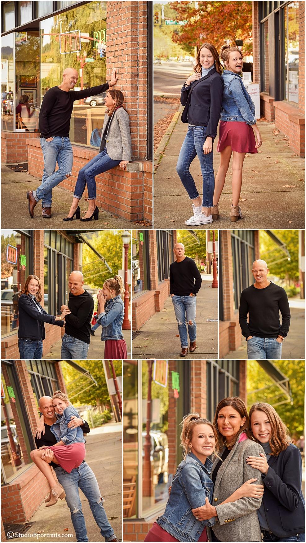 Upscale urban family portraits