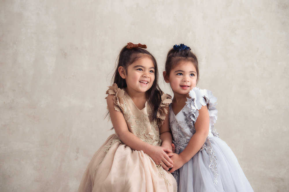 Studio B Portraits_sisters in formal dresses for holidays.jpg
