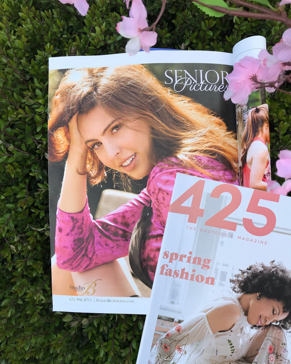 Class of 2018 Alexandra (photographed by Brooke Clark for Studio B Portraits) featured in 425 Magazine April edition
