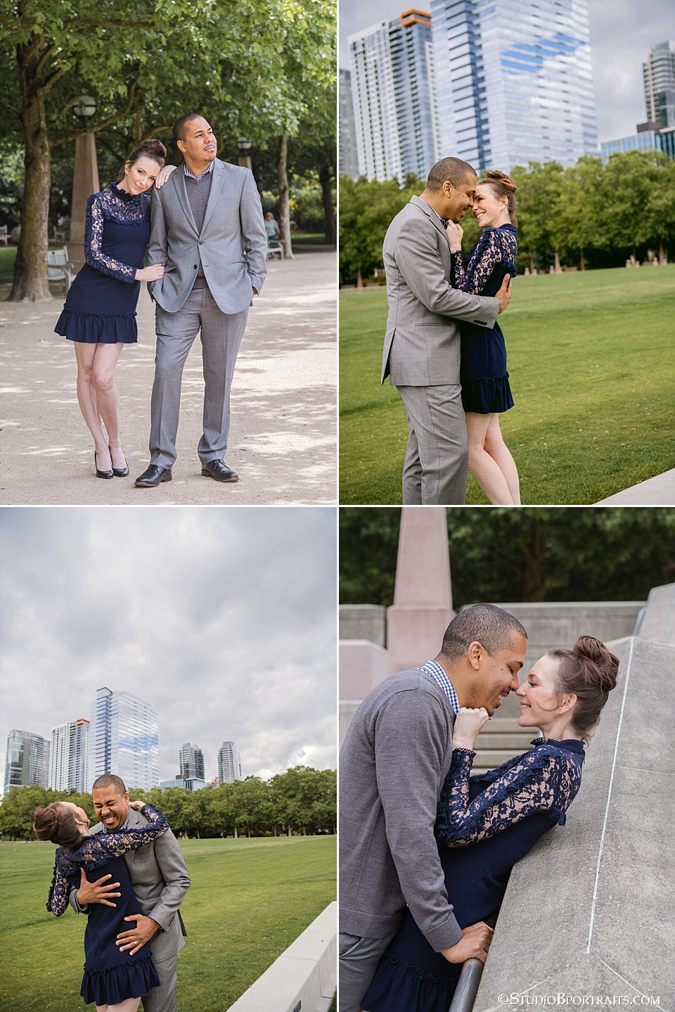 Great portraits of couple in downtown Bellevue Park photographed by Studio B Portraits_0113.jpg
