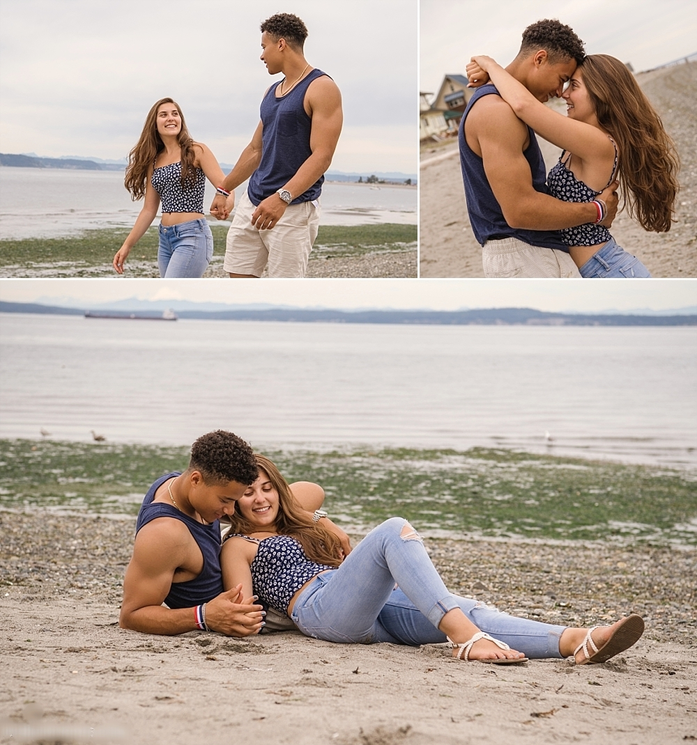 Love this casual beach couples shoot but looking for a reason to dress up and get glam? Click Below... - CLICK HERE to see our Sex In The City inspired Couples Date Session in Bellevue(perfect for Anniversary)