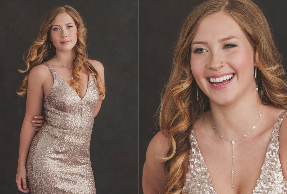 Studio B Portraits_Beautiful senior pictures of high school girl in formal dress_Strother.jpg