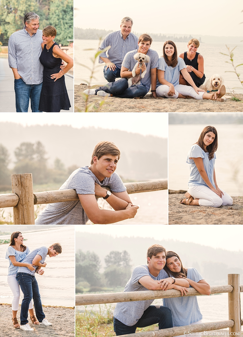 I have said it for years but the family that plays together, stays together and the Snyder family is growing up fast but it's clear that they are closer than ever.  I photographed each of the kids  senior pictures  sessions but this was my first time getting the entire foursome in front of my lens. This picture of Mom and Dad having a little silly moment is SO fun for me. Isn't it awesome that he is still cracking her up after all these years???  Photo Credit StudioBportraits.com