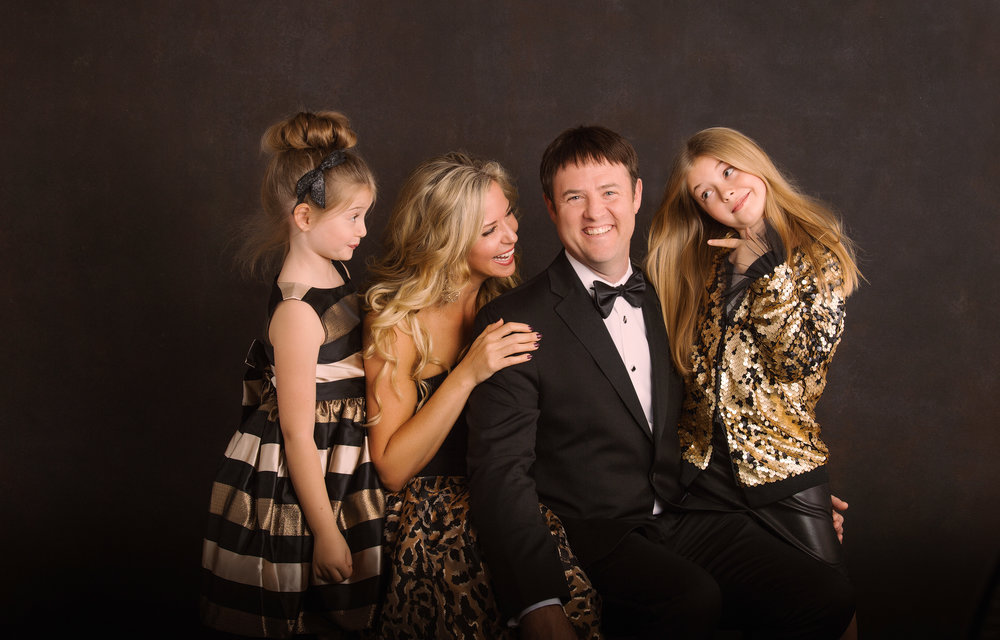 Formal Family Portraits in the studio featuring the Wadlow Family | pc:  StudioBportraits.com