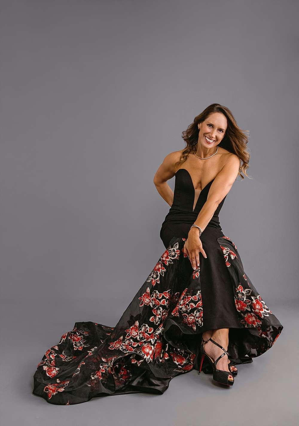 Loving this gorgeous floral gown from  Nordstrom  and swooning over the perfect  Louboutin  heel