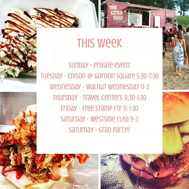 Busy week ahead! First @thewestsideflea of the season this Saturday and we will be there with @thelittlepenguintruck #foodtruck #cleveland #GotPork #beyondbbq #herepiggypiggy #supportlocal #eatlocal