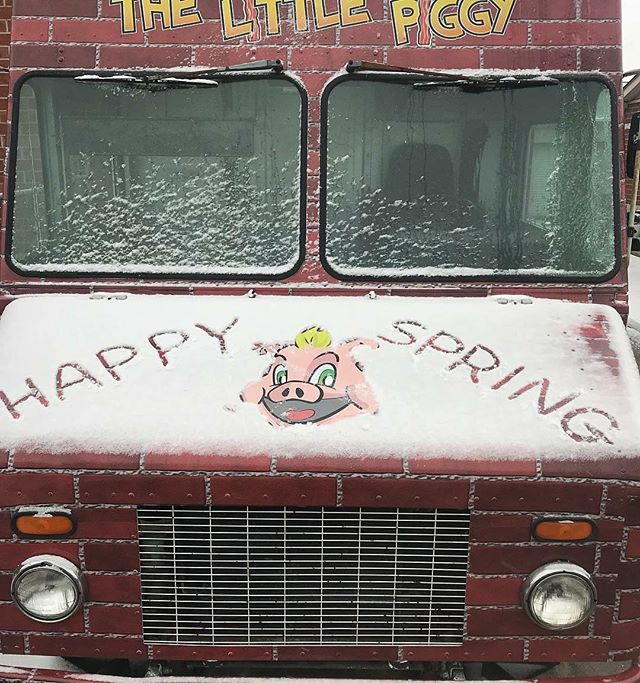Will the real spring season, please show up?  #foodtrucklife #cleveland #beyondbbq #gotpork #snowsnowgoaway