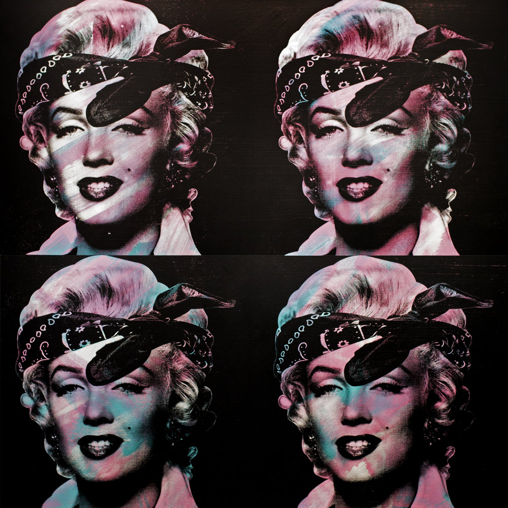 MARILYN MONROE by Knowledge Bennett     72 x 72 inches