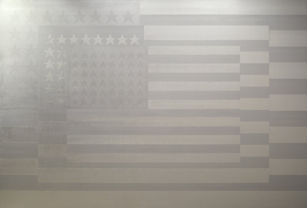 SILVER FLAG by Mike Callas 90 X 133inches