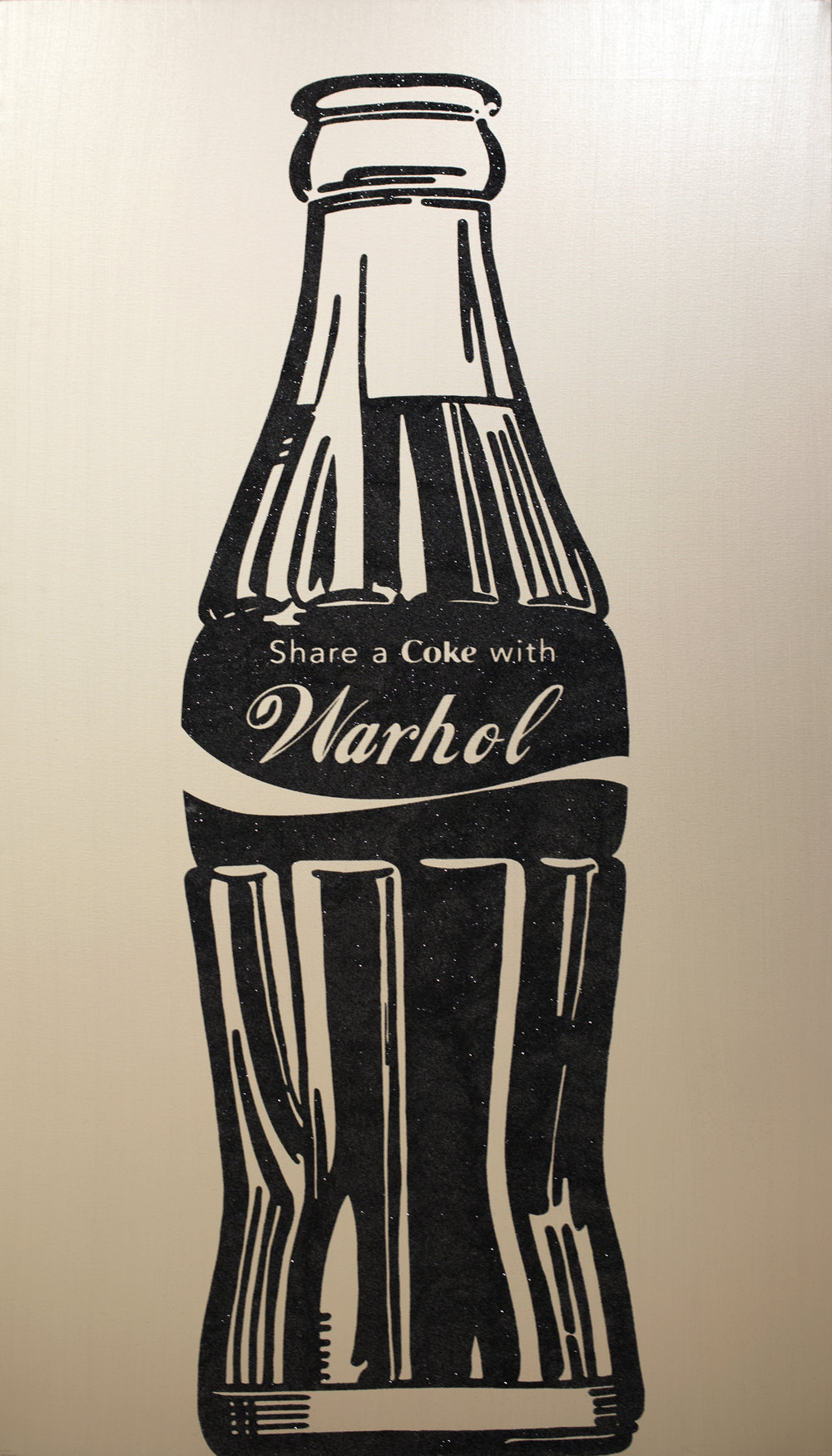 SHARE A COKE Warhol, Silver                by Knowledge Bennett 84 x 48 inches