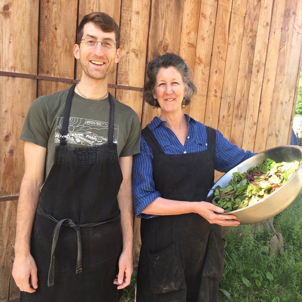 Riverbank Farm Kitchen products are lovingly prepared for by culinary assistant Fred and chef Ria!