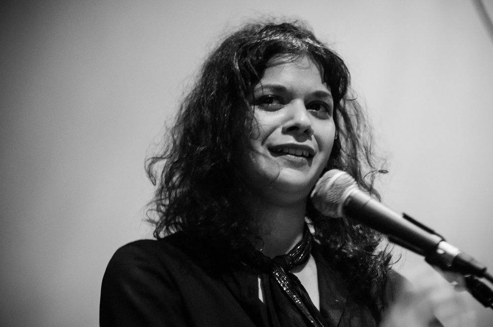 Shilpa Ray at Shea Stadium on January 24, 2015