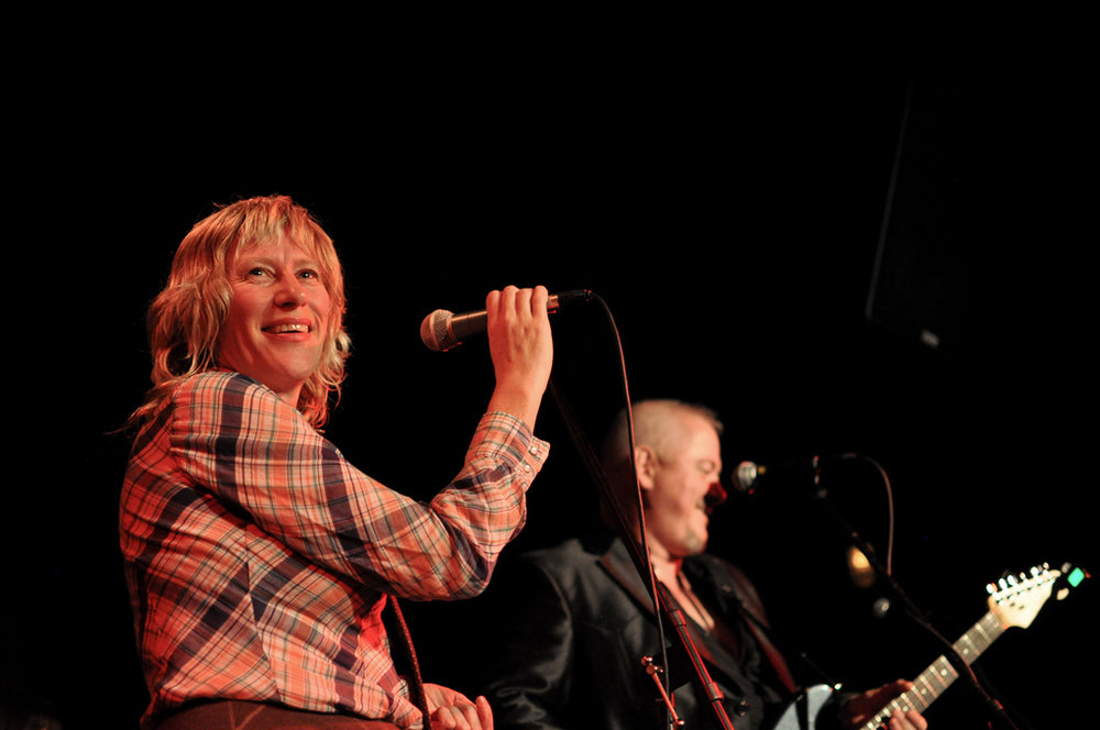 Sally Timms and Jon Langford of The Mekons