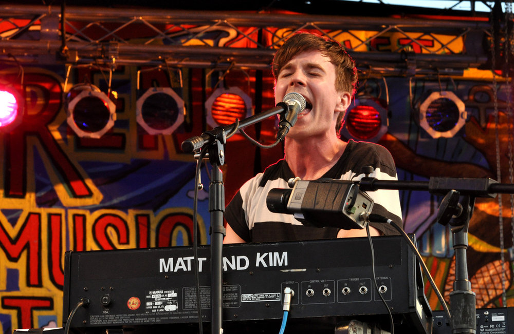 Matt & Kim at 10th annual Village Voice Siren Festival