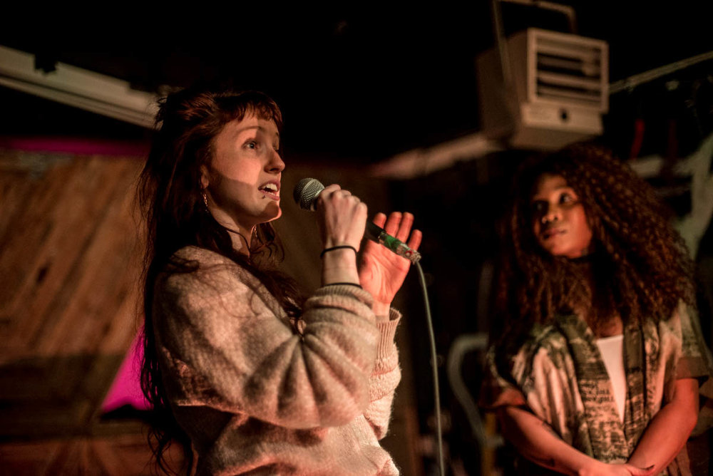Lizzie and Olithea of Educated Little Monsters at Silent Barn