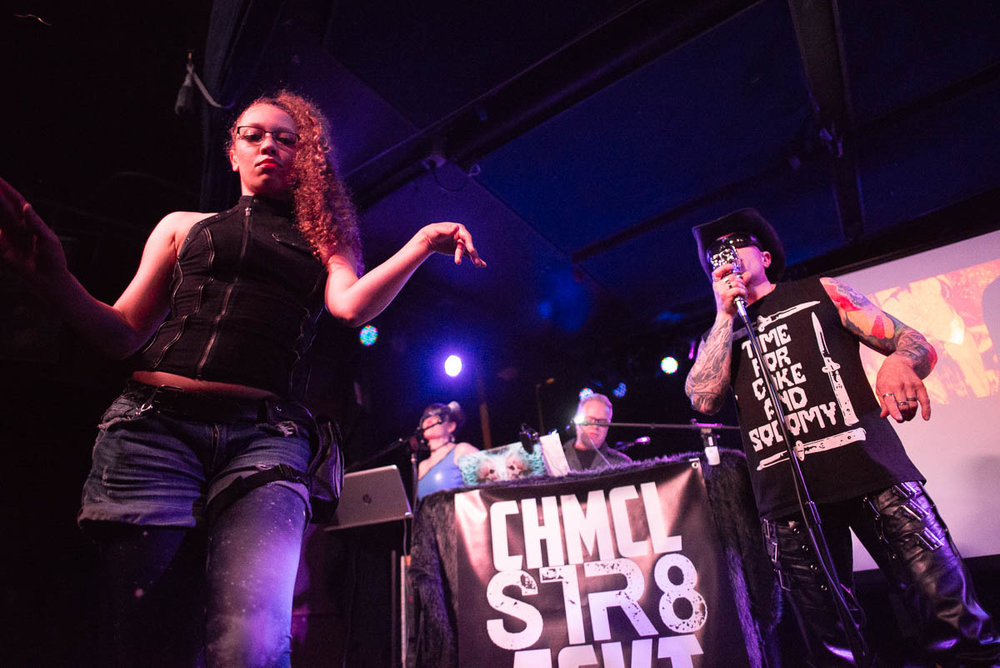 CHMCL STR8 JCKT at Knitting Factory