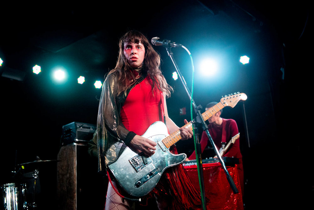 Teri Gender Bender of Le Butcherettes performing at Knitting Factory on Thursday, August 23, 2018.