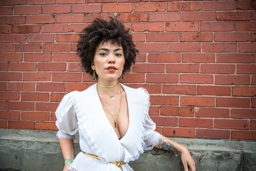 Madison McFerrin at OctFest on Governors Island on Saturday, September 8, 2018.